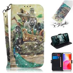 Beast Zoo 3D Painted Leather Wallet Phone Case for Mi Xiaomi Redmi 6A