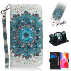 Peacock Mandala 3D Painted Leather Wallet Phone Case for Mi Xiaomi Redmi 6A