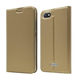 Ultra Slim Card Magnetic Automatic Suction Leather Wallet Case for Mi Xiaomi Redmi 6A - Champagne