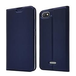 Ultra Slim Card Magnetic Automatic Suction Leather Wallet Case for Mi Xiaomi Redmi 6A - Royal Blue