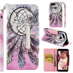 Angel Monternet Big Metal Buckle PU Leather Wallet Phone Case for Mi Xiaomi Redmi 6A