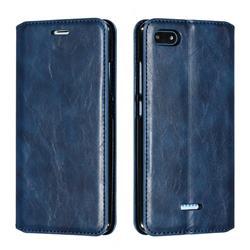 Retro Slim Magnetic Crazy Horse PU Leather Wallet Case for Mi Xiaomi Redmi 6A - Blue
