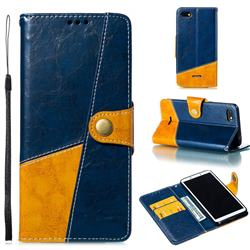 Retro Magnetic Stitching Wallet Flip Cover for Mi Xiaomi Redmi 6A - Blue