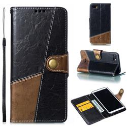 Retro Magnetic Stitching Wallet Flip Cover for Mi Xiaomi Redmi 6A - Dark Gray