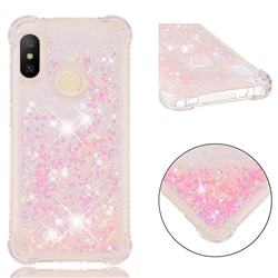 Dynamic Liquid Glitter Sand Quicksand TPU Case for Xiaomi Mi A2 Lite (Redmi 6 Pro) - Silver Powder Star