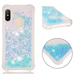 Dynamic Liquid Glitter Sand Quicksand TPU Case for Xiaomi Mi A2 Lite (Redmi 6 Pro) - Silver Blue Star