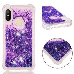 Dynamic Liquid Glitter Sand Quicksand Star TPU Case for Xiaomi Mi A2 Lite (Redmi 6 Pro) - Purple