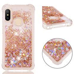 Dynamic Liquid Glitter Sand Quicksand Star TPU Case for Xiaomi Mi A2 Lite (Redmi 6 Pro) - Diamond Gold