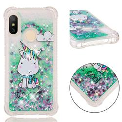 Tiny Unicorn Dynamic Liquid Glitter Sand Quicksand Star TPU Case for Xiaomi Mi A2 Lite (Redmi 6 Pro)