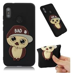 Bad Boy Owl Soft 3D Silicone Case for Xiaomi Mi A2 Lite (Redmi 6 Pro) - Black