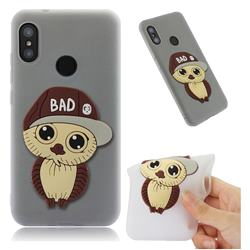 Bad Boy Owl Soft 3D Silicone Case for Xiaomi Mi A2 Lite (Redmi 6 Pro) - Translucent White