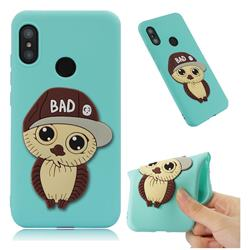 Bad Boy Owl Soft 3D Silicone Case for Xiaomi Mi A2 Lite (Redmi 6 Pro) - Sky Blue