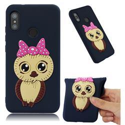 Bowknot Girl Owl Soft 3D Silicone Case for Xiaomi Mi A2 Lite (Redmi 6 Pro) - Navy