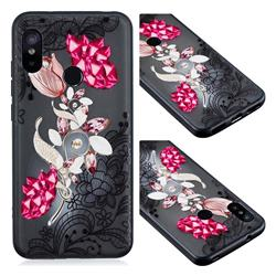 Tulip Lace Diamond Flower Soft TPU Back Cover for Xiaomi Mi A2 Lite (Redmi 6 Pro)