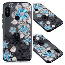 Lilac Lace Diamond Flower Soft TPU Back Cover for Xiaomi Mi A2 Lite (Redmi 6 Pro)
