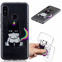 Batman Clear Varnish Soft Phone Back Cover for Xiaomi Mi A2 Lite (Redmi 6 Pro)