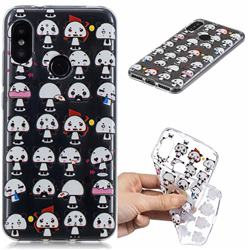 Mini Panda Clear Varnish Soft Phone Back Cover for Xiaomi Mi A2 Lite (Redmi 6 Pro)