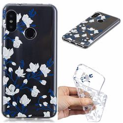 Magnolia Flower Clear Varnish Soft Phone Back Cover for Xiaomi Mi A2 Lite (Redmi 6 Pro)