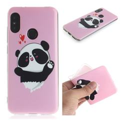Heart Cat IMD Soft TPU Cell Phone Back Cover for Xiaomi Mi A2 Lite (Redmi 6 Pro)