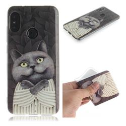 Cat Embrace IMD Soft TPU Cell Phone Back Cover for Xiaomi Mi A2 Lite (Redmi 6 Pro)