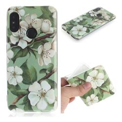 Watercolor Flower IMD Soft TPU Cell Phone Back Cover for Xiaomi Mi A2 Lite (Redmi 6 Pro)