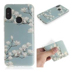 Magnolia Flower IMD Soft TPU Cell Phone Back Cover for Xiaomi Mi A2 Lite (Redmi 6 Pro)