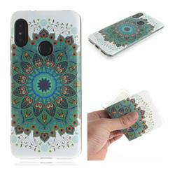Peacock Mandala IMD Soft TPU Cell Phone Back Cover for Xiaomi Mi A2 Lite (Redmi 6 Pro)