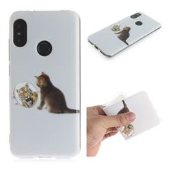 Cat and Tiger IMD Soft TPU Cell Phone Back Cover for Xiaomi Mi A2 Lite (Redmi 6 Pro)