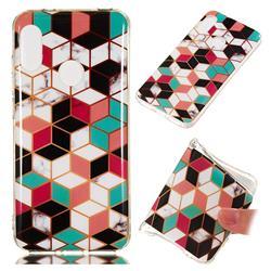 Three-dimensional Square Soft TPU Marble Pattern Phone Case for Xiaomi Mi A2 Lite (Redmi 6 Pro)