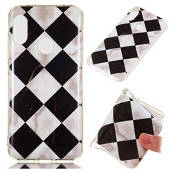 Black and White Matching Soft TPU Marble Pattern Phone Case for Xiaomi Mi A2 Lite (Redmi 6 Pro)