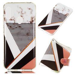 Pinstripe Soft TPU Marble Pattern Phone Case for Xiaomi Mi A2 Lite (Redmi 6 Pro)