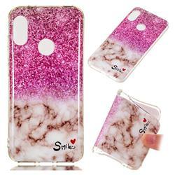 Love Smoke Purple Soft TPU Marble Pattern Phone Case for Xiaomi Mi A2 Lite (Redmi 6 Pro)