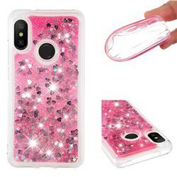 Dynamic Liquid Glitter Quicksand Sequins TPU Phone Case for Xiaomi Mi A2 Lite (Redmi 6 Pro) - Rose