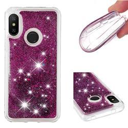Dynamic Liquid Glitter Quicksand Sequins TPU Phone Case for Xiaomi Mi A2 Lite (Redmi 6 Pro) - Purple