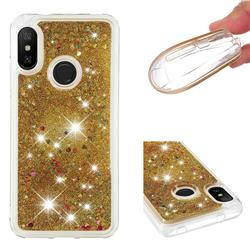 Dynamic Liquid Glitter Quicksand Sequins TPU Phone Case for Xiaomi Mi A2 Lite (Redmi 6 Pro) - Golden