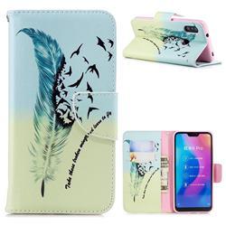 Feather Bird Leather Wallet Case for Xiaomi Mi A2 Lite (Redmi 6 Pro)