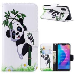 Bamboo Panda Leather Wallet Case for Xiaomi Mi A2 Lite (Redmi 6 Pro)