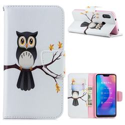 Owl on Tree Leather Wallet Case for Xiaomi Mi A2 Lite (Redmi 6 Pro)