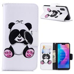 Lovely Panda Leather Wallet Case for Xiaomi Mi A2 Lite (Redmi 6 Pro)