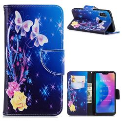 Yellow Flower Butterfly Leather Wallet Case for Xiaomi Mi A2 Lite (Redmi 6 Pro)