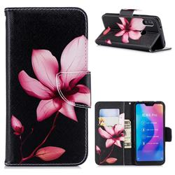 Lotus Flower Leather Wallet Case for Xiaomi Mi A2 Lite (Redmi 6 Pro)