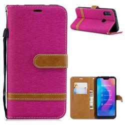 Jeans Cowboy Denim Leather Wallet Case for Xiaomi Mi A2 Lite (Redmi 6 Pro) - Rose