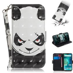 Angry Bear 3D Painted Leather Wallet Phone Case for Xiaomi Mi A2 Lite (Redmi 6 Pro)