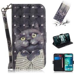 Cat Embrace 3D Painted Leather Wallet Phone Case for Xiaomi Mi A2 Lite (Redmi 6 Pro)