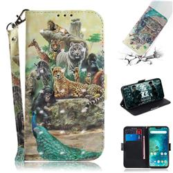 Beast Zoo 3D Painted Leather Wallet Phone Case for Xiaomi Mi A2 Lite (Redmi 6 Pro)