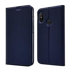 Ultra Slim Card Magnetic Automatic Suction Leather Wallet Case for Xiaomi Mi A2 Lite (Redmi 6 Pro) - Royal Blue