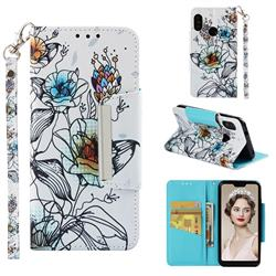 Fotus Flower Big Metal Buckle PU Leather Wallet Phone Case for Xiaomi Mi A2 Lite (Redmi 6 Pro)