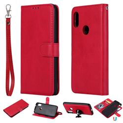 Retro Greek Detachable Magnetic PU Leather Wallet Phone Case for Xiaomi Mi A2 Lite (Redmi 6 Pro) - Red