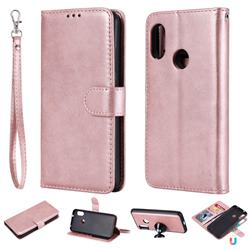 Retro Greek Detachable Magnetic PU Leather Wallet Phone Case for Xiaomi Mi A2 Lite (Redmi 6 Pro) - Rose Gold