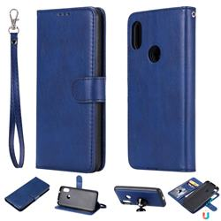 Retro Greek Detachable Magnetic PU Leather Wallet Phone Case for Xiaomi Mi A2 Lite (Redmi 6 Pro) - Blue